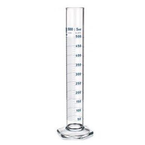 Laboratory glassware measuring cylinder